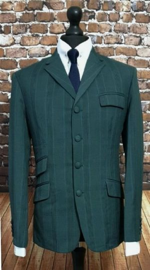 """Amos""  Forest Green & Blue POW Checked Suit"